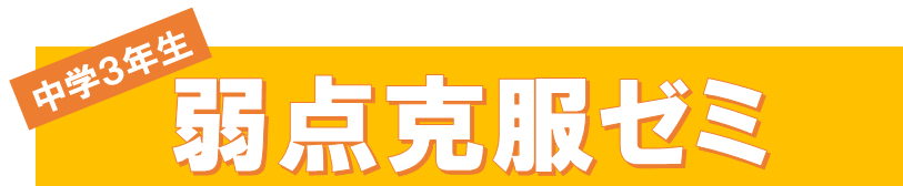 <strong>弱点克服ゼミ</strong> 7月31日~